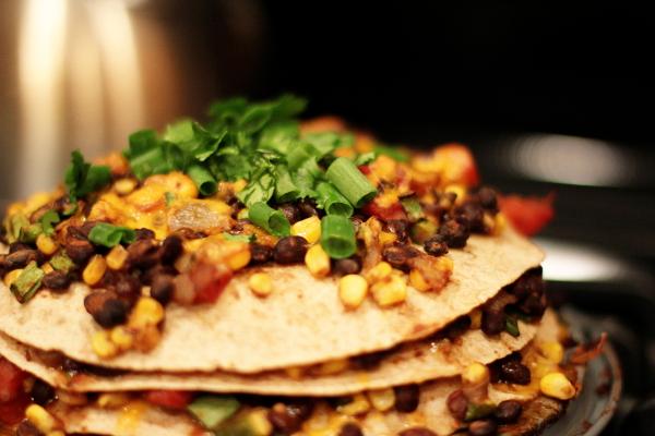 Tortilla and Black Bean Pie - Cook Nourish Bliss