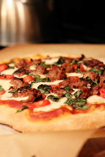 Wheat pizza dough