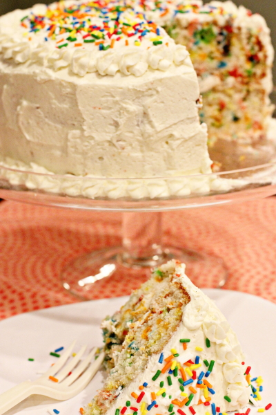 Funfetti Layer Cake with Whipped Vanilla Bean Frosting