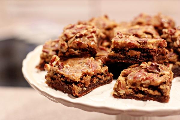 Pecan Praline Brownies