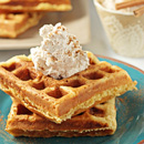 Eggnog Waffles with Cinnamon Whipped Cream