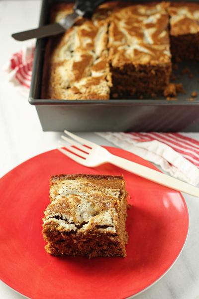 Gingerbread with Vanilla Mascarpone Swirl