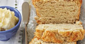 Buttery honey beer bread with honey butter