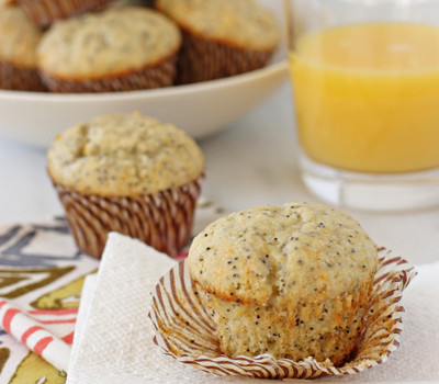 Orange ricotta poppy seed muffins