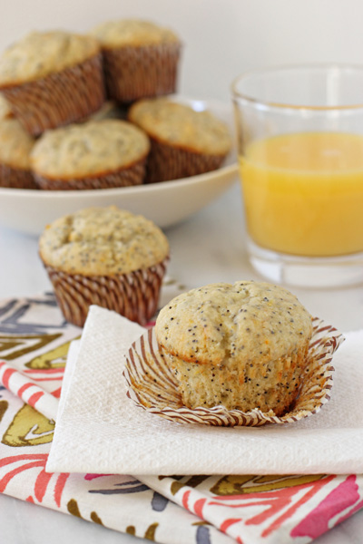 Orange Ricotta Poppy Seed Muffins - Cook Nourish Bliss