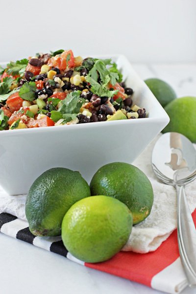 Southwestern Black Bean Salad - Cookie Monster Cooking