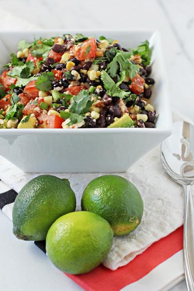 Southwestern Black Bean Salad - Cookie Monster Cooking