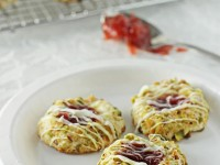 Strawberry pistachio thumbprint cookies   Cookie Monster Cooking