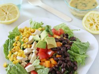 Chopped Southwestern Salad with Lemon Chipotle Dressing | Cookie Monster Cooking