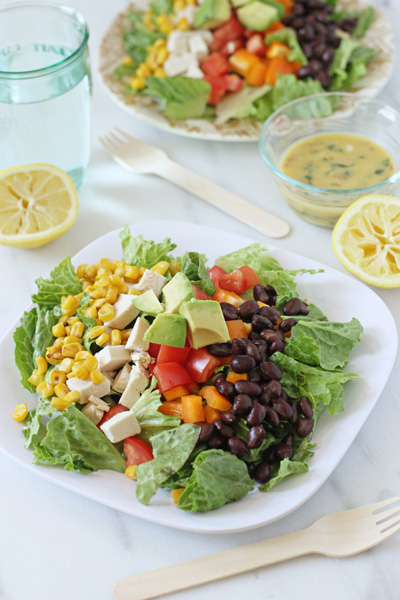 Chopped Southwestern Salad with Lemon Chipotle Dressing   Cookie Monster Cooking