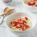 Strawberries and Cream Breakfast Polenta