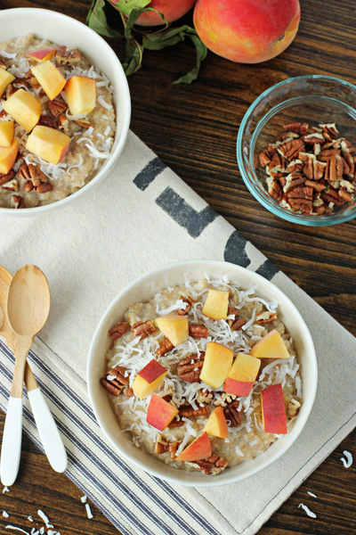 Peach, Pecan and Coconut Oatmeal   Cookie Monster Cooking