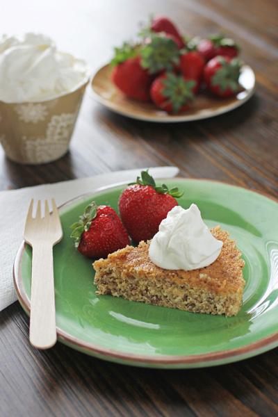 Cornmeal Butter Cake - Cook Nourish Bliss
