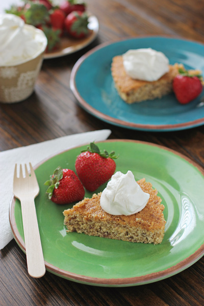 Cornmeal Butter Cake | Cookie Monster Cooking