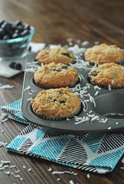 Blueberry Coconut Muffins Cook Nourish Bliss