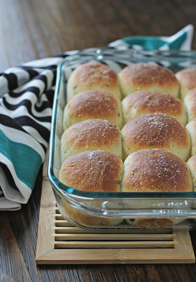Fresh Herb Dinner Rolls | Cookie Monster Cooking