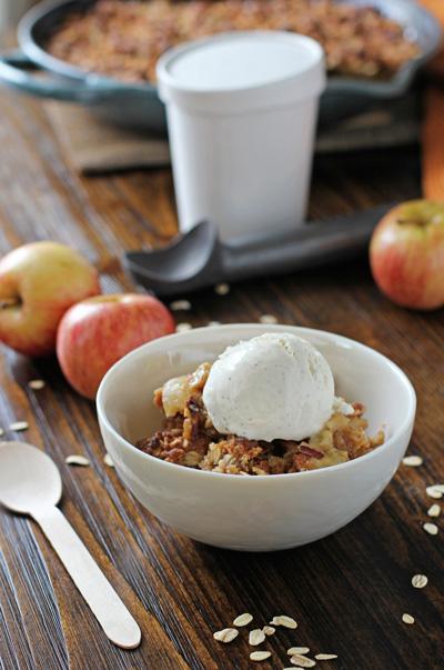 Skillet Apple Crisp | Cookie Monster Cooking