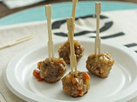Sweet and Spicy Meatballs   Cookie Monster Cooking