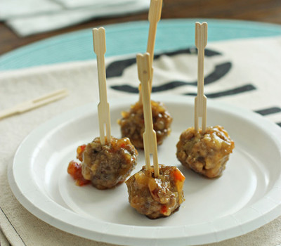 Sweet and Spicy Meatballs | Cookie Monster Cooking