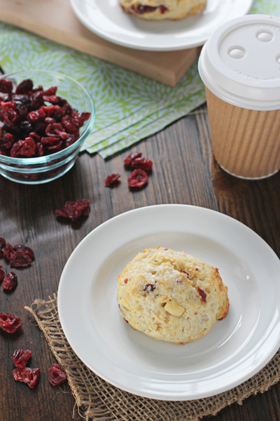 Cranberry Orange White Chocolate Scones | Cookie Monster Cooking