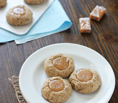 Caramel Latte Thumbprint Cookies | Cookie Monster Cooking