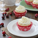 Cranberry Cupcakes with White Chocolate Frosting