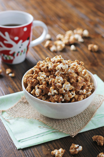 Gingerbread Caramel Corn - Cook Nourish Bliss