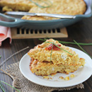 Skillet Cornbread with Goat Cheese and Sun-Dried Tomatoes