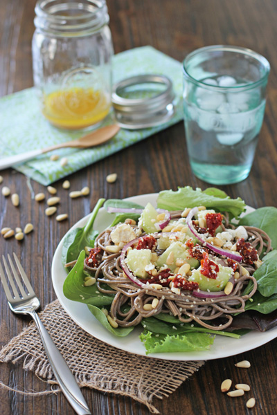 Soba Noodle and Pine Nut Salad | Cookie Monster Cooking