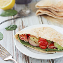 Greek Pita Pockets with Hummus