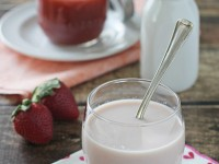Homemade Strawberry Milk | cookiemonstercooking.com
