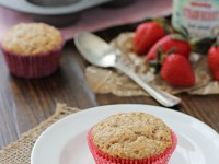 Strawberry Vanilla Muffins | cookiemonstercooking.com