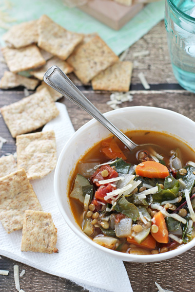 Chard and Lentil Vegetable Soup | cookiemonstercooking.com