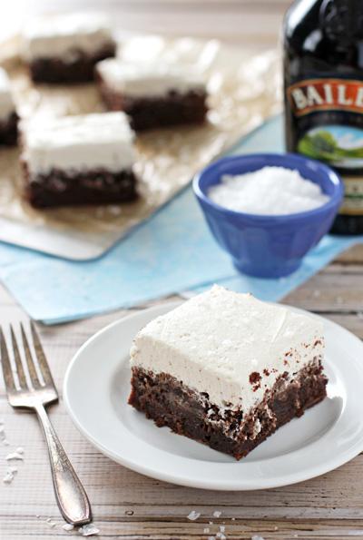 Chocolate Stout Brownies with Irish Cream Frosting - Cook Nourish ...