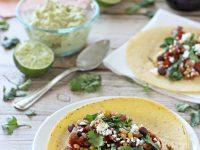 Crockpot Barley and Bean Tacos with Avocado Chipotle Cream | cookiemonstercooking.com