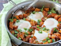 Southwest Sweet Potato Breakfast Skillet | cookiemonstercooking.com