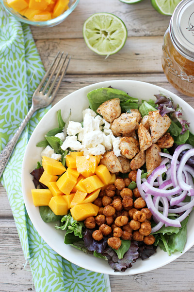 salad with cumin vinaigrette recipe on chickpea and spinach salad ...