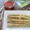 Crispy Baked Asparagus with Honey Sriracha Dipping Sauce