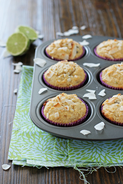 Lime, Dark Chocolate and Coconut Muffins   cookiemonstercooking.com