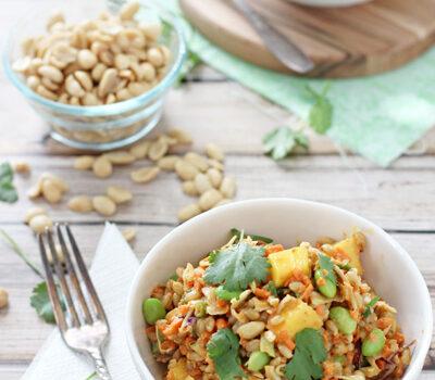 Thai Barley Salad | cookiemonstercooking.com