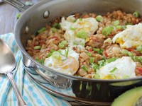 Cheesy Southwest Breakfast Farro | cookiemonstercooking.com