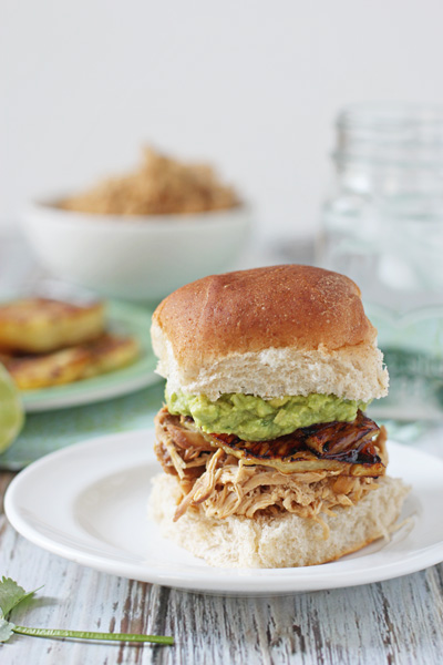 Crockpot Pineapple Chicken Sandwiches | cookiemonstercooking.com