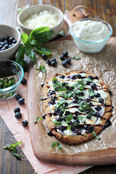 Blueberry Basil Ricotta Flatbreads   cookiemonstercooking.com
