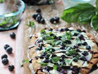 Blueberry Basil Ricotta Flatbreads | cookiemonstercooking.com