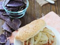 Chipotle Peach BBQ Farro Sandwiches   cookiemonstercooking.com