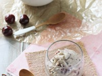 Roasted Cherry and Dark Chocolate Coconut Milk Ice Cream | cookiemonstercooking.com