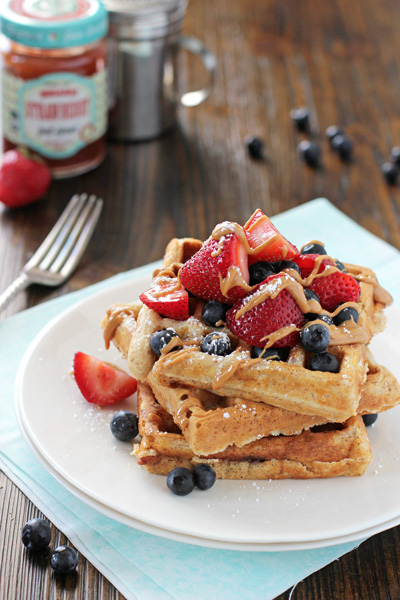 Almond Butter and Jelly Waffles | cookiemonstercooking.com