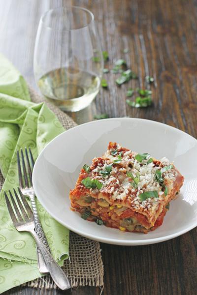 Crockpot Summer Vegetable Lasagna