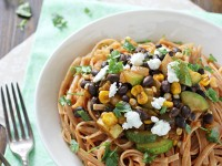 Vegetable and Black Bean Enchilada Pasta | cookiemonstercooking.com