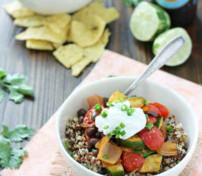Quinoa and Roasted Vegetable Burrito Bowls | cookiemonstercooking.com